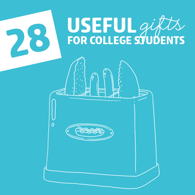 gifts for college boy It's natural to want to ply your college-bound child with gifts, but one thing to consider is that everything he or she brings to college must fit in a space slightly larger than a mini.